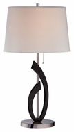 Lite Source LS22155 Ulfah Polished Steel Contemporary 30 Inch Tall Table Lighting
