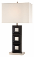 Lite Source LS22188 Dillon Black Wood Modern 30 Inch Tall Table Lamp Lighting