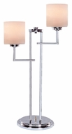 Lite Source LS22196 Shiloah 29 Inch Tall Contemporary 2 Light Chrome Table Lamp