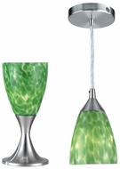 Lite Source LS2248PS-GRN(Clearance) Nucleus Accent Table Lamp and Pendant Lamp Double Pack - Polished Steel / Green