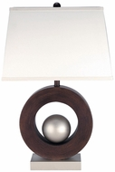 Lite Source LS2449 Circuline Dark Walnut Wooden Table Lamp
