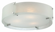 Lite Source LS5420C/FRO Kaelin Contemporary 21 Inch Diameter Flush Lighting Fixture