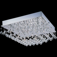 Lite Source LS-5580 Krysztal Contemporary Chrome LED Flush Lighting