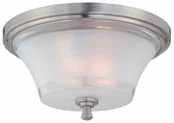 Lite Source LS5731 Niccolo 2-light Contemporary Flush Mount Indoor Ceiling Lighting