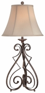 Lite Source LSC41185 Gibson Rusted Wrought Iron Table Light