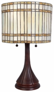 Lite Source LSC41241 Danton Tiffany Table Lamp with Dual Pull Chains