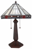 Lite Source LSCF41237 Fitzwilliam Fluorescent Tiffany Style Table Lamp with White Shade