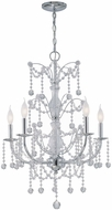 Lite Source LSEL-10012 Crysilda Traditional 33 Inch Tall Crystal Candle Chandelier