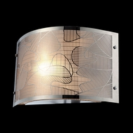 Lite Source LSEL-10097 Meo 7 Inch Tall Modern Wall Lighting With Laser Cut Metal Shade