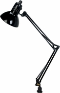 Lite Source LSF-105BLK Swing Arm Contemporary Black Fluorescent Reading Light