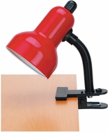 Lite Source LSF-111RED Clip-On Modern Red Fluorescent Clip On Lamp