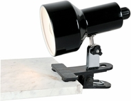 Lite Source LSF-114BLK Clip-On Ii Contemporary Black Fluorescent Clip On Lamp