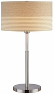 Lite Source LSF-20751PS Relaxar Polished Steel Fluorescent Side Table Lamp