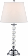 Lite Source LSF-22125 Aria Contemporary Chrome Fluorescent Lighting Table Lamp