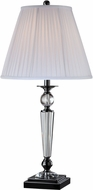 Lite Source LSF-22128 Sherine Black Chrome Fluorescent Table Top Lamp