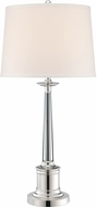 Lite Source LSF-22133 Adara Silver Plated Fluorescent Side Table Lamp