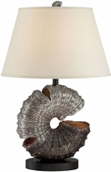 Lite Source LSF-22414 Nautilus Nautical Aged Silver Fluorescent Table Top Lamp