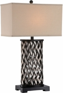 Lite Source LSF-22660 Sadler Modern Aged Silver Fluorescent Table Lamp Lighting