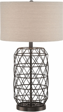 Lite Source LSF-22947 Cassiopeia Black Metal Fluorescent Table Top Lamp