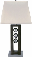 Lite Source LSF-2450 Pelota Modern Polished Steel Fluorescent Side Table Lamp
