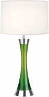Lite Source LSF-2766PS-GRN Sunderland Contemporary Polished Steel Fluorescent Table Lamp