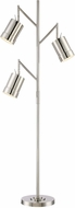 Lite Source LSF-82818 Tindra Modern Chrome Fluorescent Floor Lamp Lighting