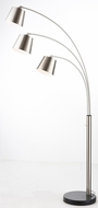 Lite Source LSF-83033BN Quana Contemporary Brushed Nickel Fluorescent Arc Floor Lighting