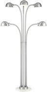 Lite Source LSF-83408 Rowley Contemporary Brushed Nickel Fluorescent Lighting Floor Lamp