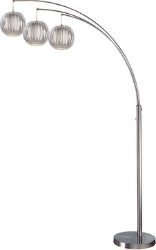 Lite Source LSF-8871PS-GREY Deion Modern Polished Steel LED Floor Lamp