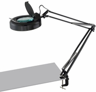 Lite Source LSM-180LEDBLK Magnify-Lite Contemporary Black LED Magnifying Desk Lamp