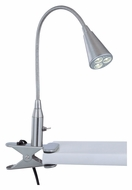 Lite Source Maxx I Clamping 20 Inch Tall LED Desk Lamp - Polished Steel