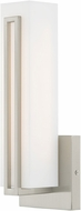 Livex 10190-91 Fulton Contemporary Brushed Nickel LED Lighting Wall Sconce