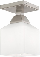 Livex 10280-91 Aragon Contemporary Brushed Nickel Ceiling Light