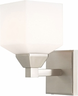 Livex 10281-91 Aragon Contemporary Brushed Nickel Wall Sconce Lighting
