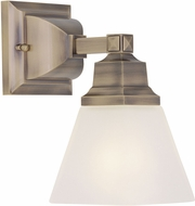 Livex 1031-01 Mission Modern Antique Brass Wall Lighting