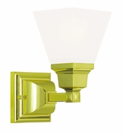 Livex 1031-02 Mission Polished Brass Wall Sconce
