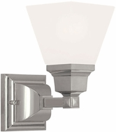 Livex 1031-35 Mission Contemporary Polished Nickel Lighting Sconce