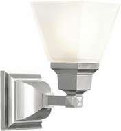 Livex 1031-91 Mission Modern Brushed Nickel Lamp Sconce