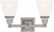 Livex 1032-35 Mission Contemporary Polished Nickel Bathroom Sconce