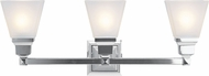 Livex 1033-05 Mission Contemporary Polished Chrome Vanity Lighting Fixture