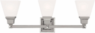 Livex 1033-35 Mission Contemporary Polished Nickel Bathroom Wall Sconce