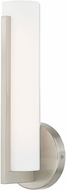 Livex 10351-91 Visby Contemporary Brushed Nickel LED Wall Light Sconce