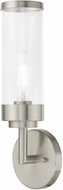 Livex 10361-91 Hillcrest Contemporary Brushed Nickel Wall Light Sconce
