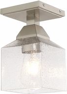 Livex 10380-91 Aragon Contemporary Brushed Nickel Ceiling Lighting Fixture