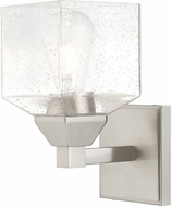 Livex 10381-91 Aragon Contemporary Brushed Nickel Wall Sconce