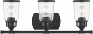 Livex 10513-04 Lawrenceville Black 3-Light Bathroom Lighting