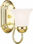 Livex 1071-02 Riviera Polished Brass Wall Lamp