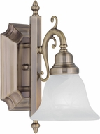 Livex 1281-01 French Regency Traditional Antique Brass Wall Lighting