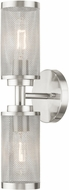Livex 14122-91 Industro Contemporary Brushed Nickel Wall Sconce