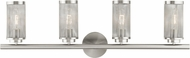 Livex 14124-91 Industro Modern Brushed Nickel 4-Light Vanity Light